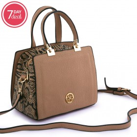 Brown Animal Print Bag