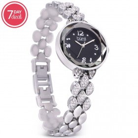 Ladies Silver Crystal Watch