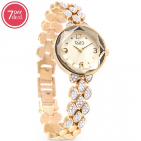 Ladies Gold Crystal Watch