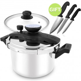 5 Litre Pressure Cooker & Free Knife Set