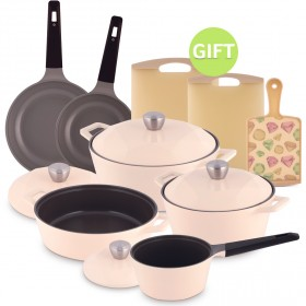 Carat 13 Piece Pot Set - Ivory