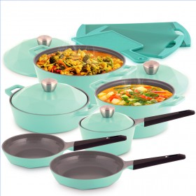 Carat 13 Piece Pot Set - Emerald