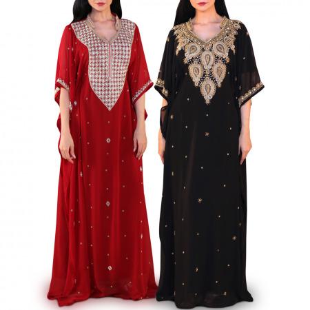 Afrah Embellished Jalabiya - Pack of 2
