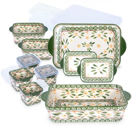 Old World 10PC Bakeware Set – Green
