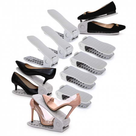 10PCs Shoe Organizer - Grey