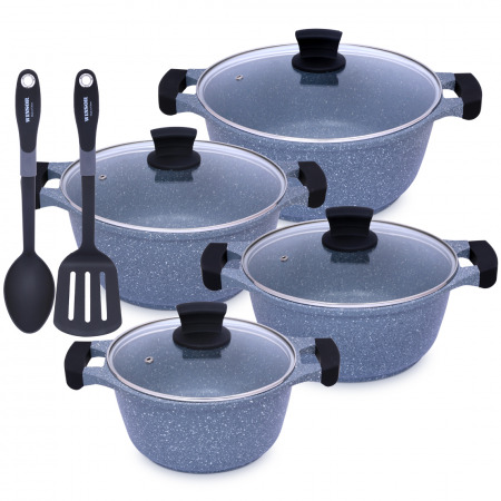 10 PC Cookware Set - Grey