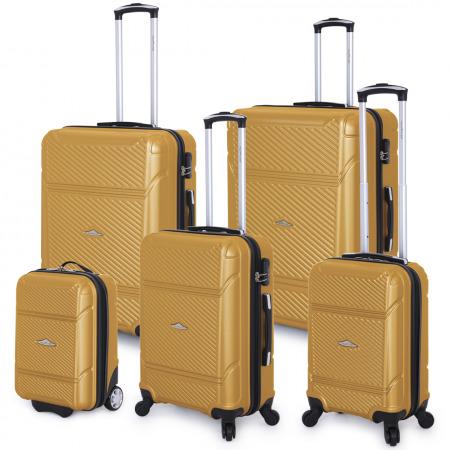 5 PC Jagger Luggage Set - Gold
