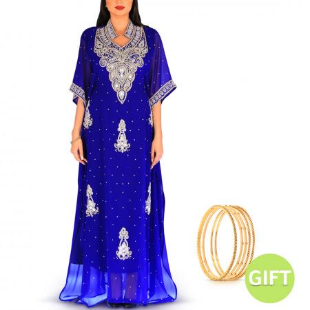 Al Dora Blue Jalabiya with Gift