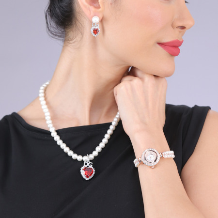 Pearl Wristwatch  Set - Rose Gold