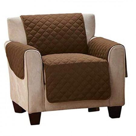 Sofa Saver Cream/Espresso -1 seat