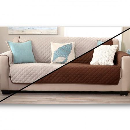 Sofa Saver Cream/Espresso - 3 seat