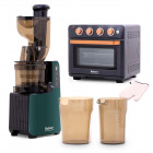 Cold Press Slow Juicer Gardenia Collection & 24L Air Fryer Oven Royal Black