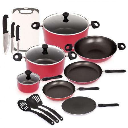 مجموعة أواني وأدوات طهي كلاسيك 17 قطعة