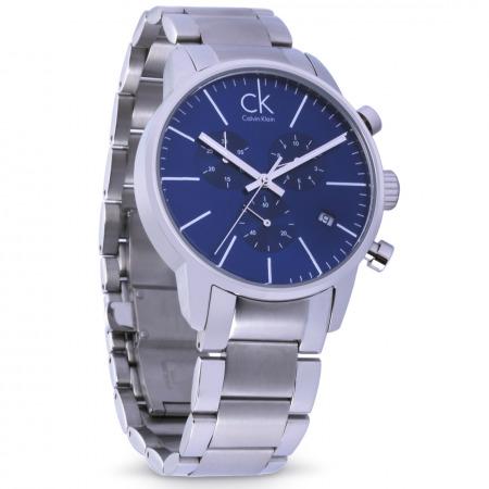 ساعة يد كرونوغراف الكلاسيكية للرجال بميناء أزرق
