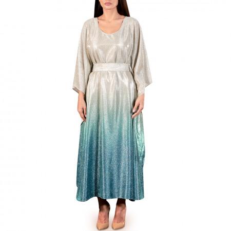 فستان أومبري أزرق متدرج الألوان
